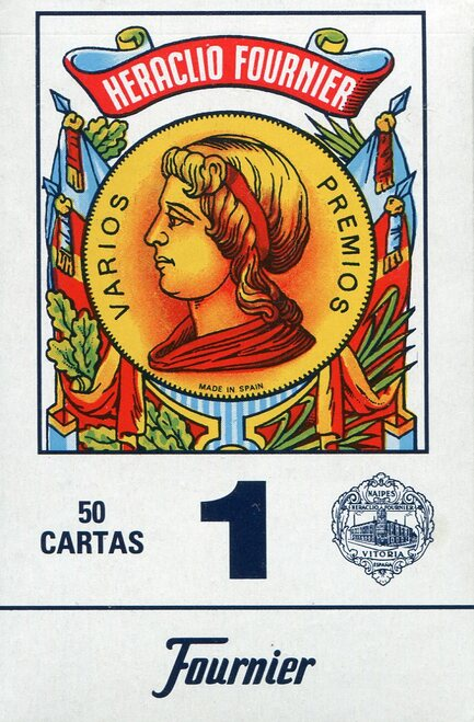 Baraja Española, No. 1, 50 Cards, Blue Back