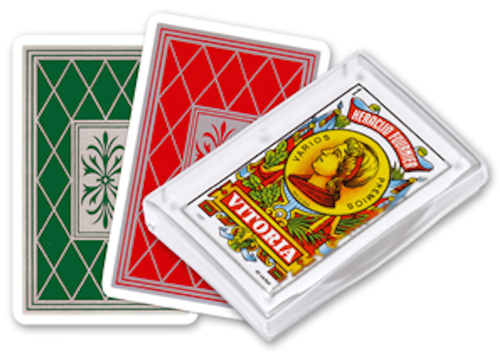 Baraja Española, No. 27, 40 Cards, Green Back