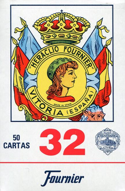 Baraja Española, No. 32, 50 Cards, Red Back