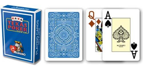 Texas Poker, Jumbo Index, 100% Plastic, Blue