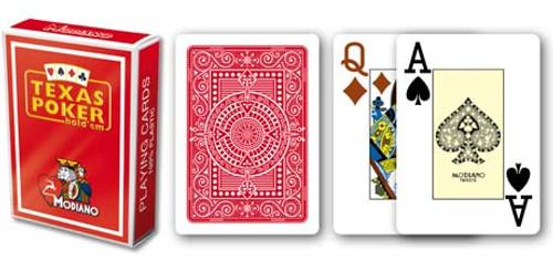 Texas Poker, Jumbo Index, 100% Plastic, Red