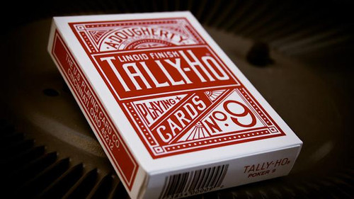 Tally-Ho Circle Back Poker Deck, Red