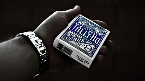 Tally-Ho Fan Back Poker Deck, Blue