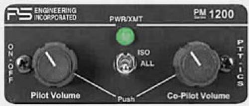11960 PS Engineering PM 1200 2 Place Mono High Noise Panel Mount Intercom NON-TSO