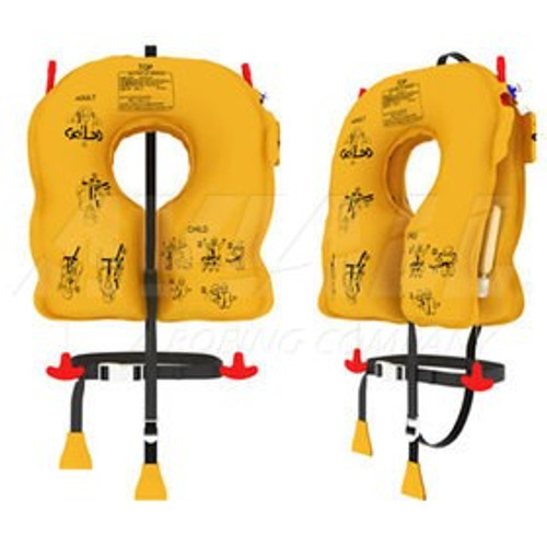 P0640-101 EAM N-V20L8 Series Twin-Cell Life Vest Yellow, Infant, 5 year inspec