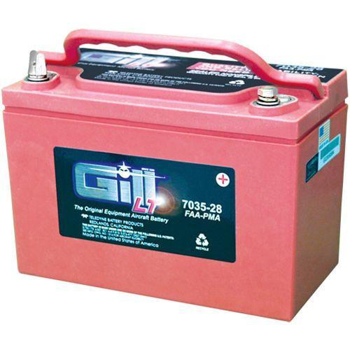 7035-28  Gill® LT Valve Regulated Sealed Lead Acid Aircraft Battery 7035-28, 12V, 28Ah