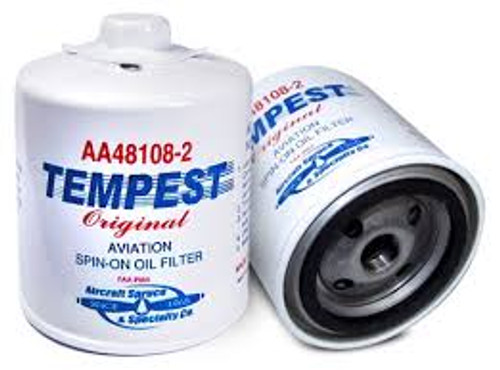 AA48108-2-6PK Tempest Oil Filter Spin-On - Six Pack