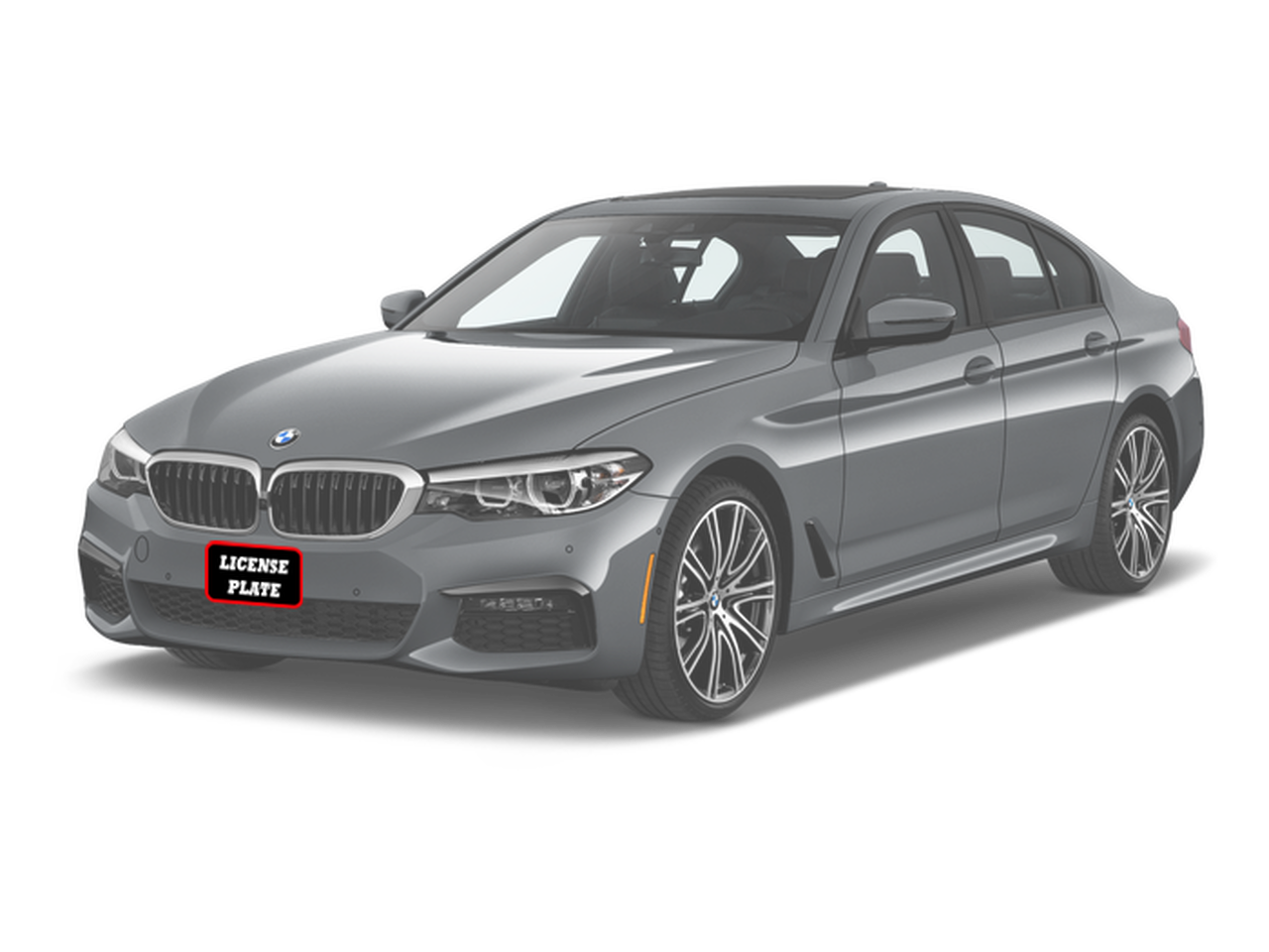 New Front License Plate For BMW 5 Series M PACKAGE