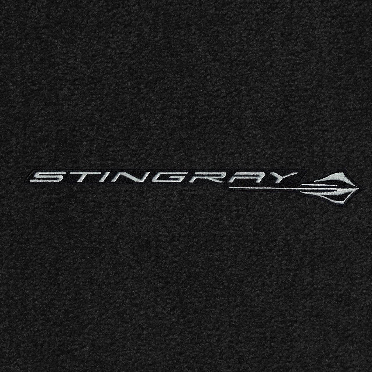 Lloyd Mats 2005-2013 Corvette Convertible Ebony Trunk Mat Crossed Flags Logo