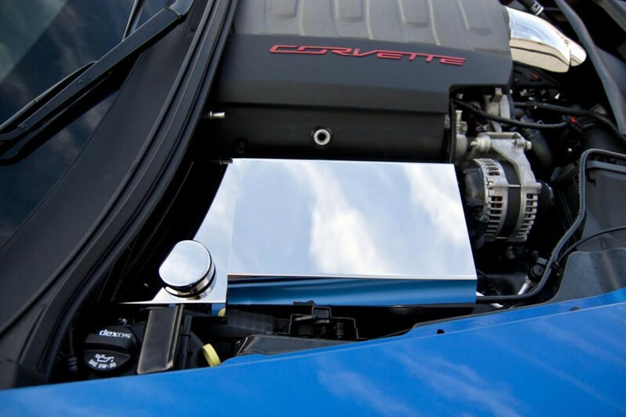 2014-2017 c7 corvette z06 z51 grand sport - fuse box cover polished by acc