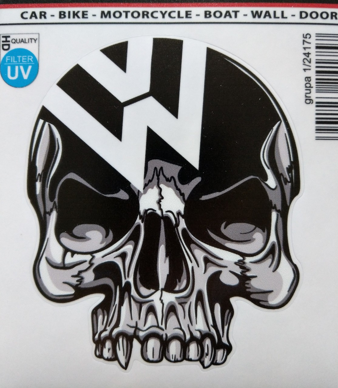 Vw skull decal 1 24175
