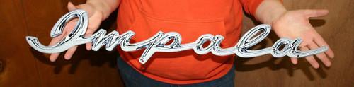 "34/"" X 4″ CHEVROLET 1957 NOMAD SCRIPT FLAT STEEL SIGN"