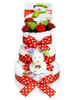 3 Tier Snowman and the Snowdog POSY Nappy Cake