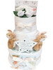 3 Tier Twin Luxury Guess How Much I Love You  Posy Nappy Cake