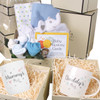 3 Tier New Baby Boy and Parents Gift Box Hamper Set Blue Elephant