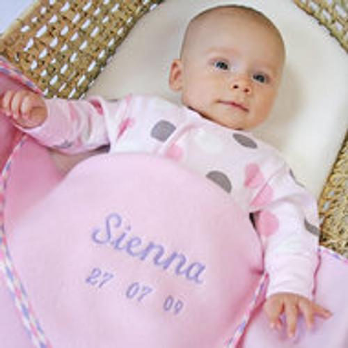 Personalised Baby Girl Fleece Blanket (50x80cm)
