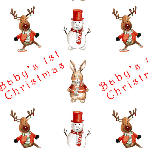 Baby's 1st Christmas Wrapping paper (4 sheets)