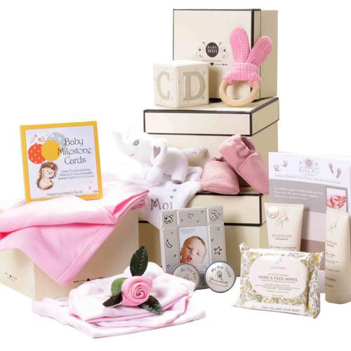 3 Tier Keepsake Luxury Baby Girl Gift Box Set Baby Moi Elephant