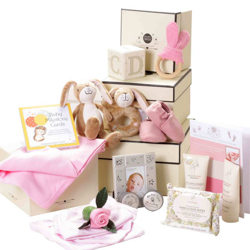 3 Tier Keepsake Luxury Baby girl Gift Box Set Guess How Much I Love You