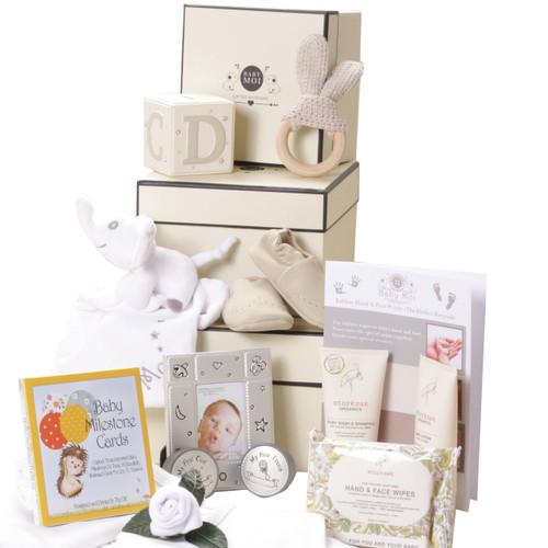3 Tier Keepsake Luxury Baby Gift Box Set Baby Moi Elephant