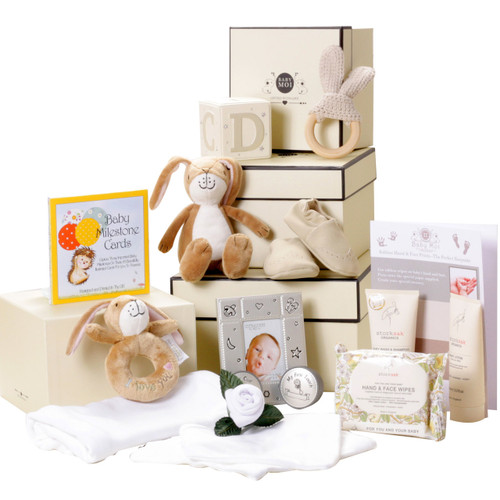 3 Tier Luxury Hamper Baby Gift Box Set Keepsake (Hare)
