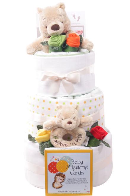 3 Tier Winnie The pooh Luxury Nappy Cake
