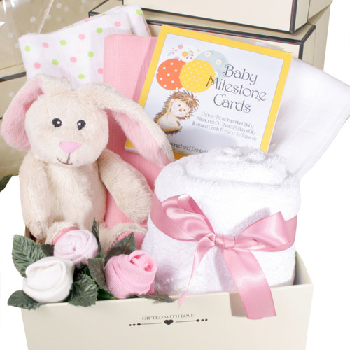 2 tier Welcome Little One Baby Girl Gift Box (Pink)