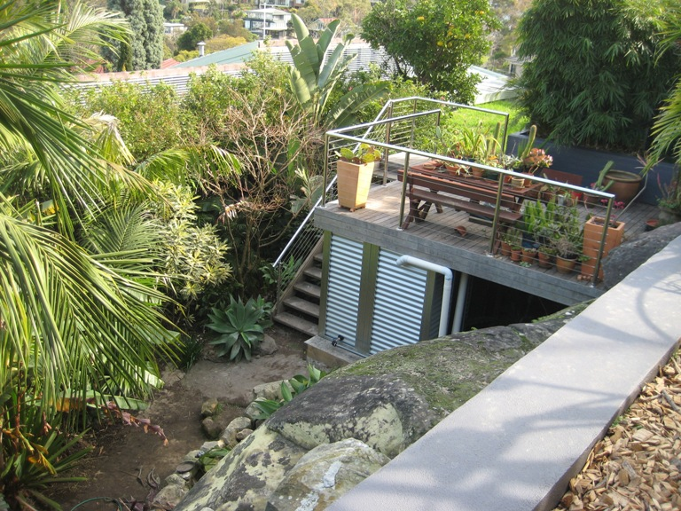 AquaClad Steel Slimline Modular Water Tank 10,500 litres at Bottom of Property