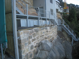 Cliff side water tanks