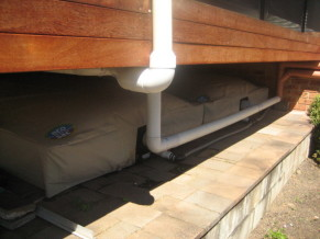 Eco Sac Bladder Tanks with Protective Covers Under Deck