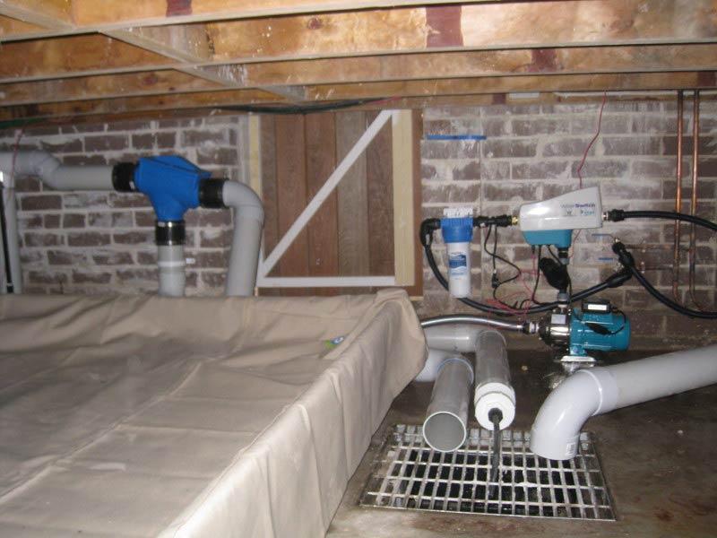 Under floor rainwater bladder tank & Filter System