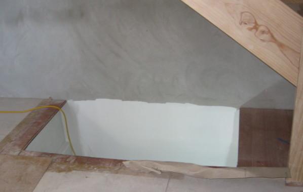 Manhole Access for Basement Tank