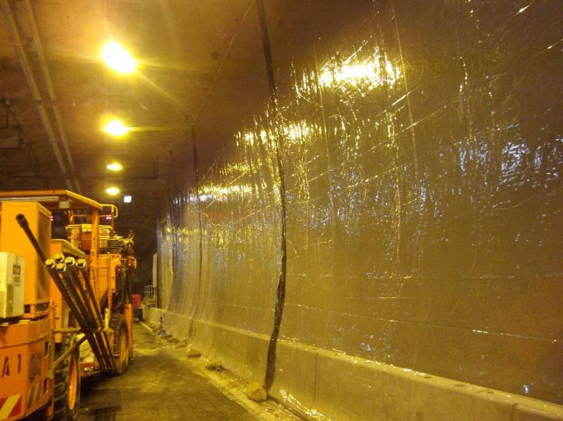 Industrial Weather Curtains for Dust Suppression Tunnel Excavation