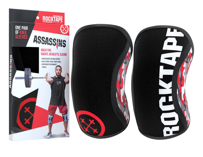 Assassins Knee Sleeves - Red Camo