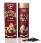 This noble TWG Tea breakfast blend is evocative of the sophisticated harmony of Singapore. Boasting a natural blend of green tea, black tea, rich vanilla and rare spices, this tea yields a complex flavour with a sweet and lingering aftertaste.   Net Weight : 100g