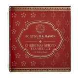 A warming combination of Fortnum's Christmas Spiced Tea, the Plum, Apple and Cinnamon Infusion and Christmas Spiced Green Tea. Pair with the merrilossus biscuits for a wonderfully festive treat.  This tin contains 15 silky teabags.