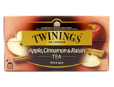 An unusual but exquisite black tea with the flavour of sweet apple, warming cinnamon and a hint of raisin. This has an unusual and delightfully sweet flavour and is perfect for the Winter.    Tea, Spice Apple Flavouring (10%), Apple Pieces (1%), Cinnamon (1%), Raisin Flavouring