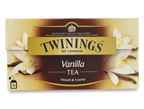 Derived from an orchid, the delicate flavour of vanilla makes it a perfect companion to fine black tea.  Twinings' blenders have combined them to create an indulgently sweet and creamy drink that is wonderful anytime of the day.    Black Tea with Vanilla Flavour - black tea, flavouring (8%), (vanilla pods (0.5%)