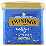 FRESH FLAVOR: One tin of 3.53 ounces of loose Lady Grey tea. Lady Grey tea is a softer, more elegant version of Earl Grey tea developed exclusively for Twinings. Steep for three minutes for the perfect cup of lady grey tea. ONLY THE FINEST QUALITY: Our expert blenders source only the finest leaves cultivated to our exacting standards by trusted growers around the world. From these tea gardens we hand-select the leaves that will shape your next Twinings moment. LADY GREY TEA: Lady Grey is offered exclusively from twinings. This light black tea is perfectly balanced with the citrus fruit flavors of bergamot, orange and lemon to deliver a delightful tea with a refreshing taste and uplifting aroma.