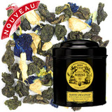 A composition of blue tea and the wonderfully paired notes of lime and ginger. The round body of the tea is illuminated by seductive, sparkling notes of intense flavour.  A fresh tea, dynamic and absolutely majestic.
