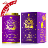 HAPPY NOËL - Limited edition  This new collection of five festive teas bestow colour, joy and twinkling stars under the Christmas tree.    NOËL BLEU® - Festive Blue tea™ with gold and silver stars   Legendary notes of cinnamon, vanilla and orange are blended with a smooth blue tea and dazzlingly complemented by a streak of brilliant stars.