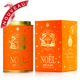 HAPPY NOËL - Limited edition  This new collection of five festive teas bestow colour, joy and twinkling stars under the Christmas tree.    NOËL BLANC® - Festive red tea with gold and silver stars   This naturally theine-free red rooibos, flavoured with fruits and mild spices is perfect at any time of the day.