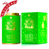 HAPPY NOËL - Limited edition  This new collection of five festive teas bestow colour, joy and twinkling stars under the Christmas tree.    NOËL NOUVEAU® - Festive green tea with gold and silver stars   This incomparable freshness and sweet verdant aroma of a legendary green tea has been wedded to flavours at once velvety, spicy and fruity.