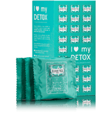 BOX OF 24 MUSLIN TEA BAGS OF DETOX 24 enveloped muslin tea bags of Detox, to take with you anywhere and anytime, for a sheer moment of well-being.   With its delicious blend of maté, green tea and lemon grass, Detox is the ideal companion for a moment of pleasure the whole day long.  Ingredients: Blend of maté and green tea with scent of lemon, lemon grass