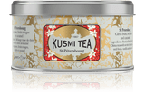 BLEND OF BLACK TEAS, BERGAMOT, RED FRUIT AND CARAMEL Created for the 300-year celebration of the city of St Petersburg, where Kusmi Tea's history began in 1867, St Petersburg is a delicious mixture of Earl Grey, caramel, and red fruits with a hint of vanilla.  INGREDIENTS  Black tea  Essential oil of bergamot  Flavourings