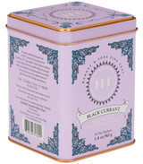 Flavored tea. with fruity, berry flavor. Full-bodied tea. 20 sachets in a tin. Each sachet brews a 12 oz cup of tea. Caffeinated.  Ingredients:  Black tea, currants, black currant flavor. Contains natural flavors.