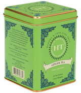 Ginger Tea is a delightfully simple herbal blend, both spicy and slightly sweet. Caffeine free herbal with ginger & lemon. Tin of 20 sachets. Each tea sachet brews a 12 oz cup of tea. Kosher.