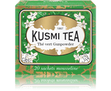 GREEN TEA FROM CHINA Originally from Zhejiang province in China, Gunpowder tea is the traditional base for mint tea. Its leaves are dried after harvesting to avoid fermentation, then rolled into pellets resembling gunpowder.  Infusion time 3-4 min  Infusion temperature 85-90°C  INGREDIENTS  Green tea from China