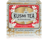 BLEND OF BLACK TEAS, BERGAMOT, RED FRUIT AND CARAMEL Created for the 300-year celebration of the city of St Petersburg, where Kusmi Tea's history began in 1867, St Petersburg is a delicious mixture of Earl Grey, caramel, and red fruits with a hint of vanilla.  Infusion time 3-4 min  Infusion temperature 85-90°C  INGREDIENTS  Black tea  Essential oil of bergamot  Flavourings