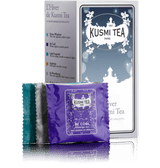 24 ENVELOPED TEA BAGS OF OF OUR BEST TEAS FOR THE WINTER. Kusmi Tea presents an assortment of 3 x 8 enveloped muslin tea bags to introduce you to the best of Kusmi teas to be enjoyed in the winter: Prince Vladimir, Imperial Label, St Petersburg and Kashmir Tchai, for those who love Russian flavours; Be Cool and Euphoria, two of the most popular from our Wellness Teas. Lastly, Four red fruits and Almond green tea will delight those who love flavoured teas.  This selection of warming blends makes Wintertime by Kusmi Tea the perfect companion for a cozy winter.